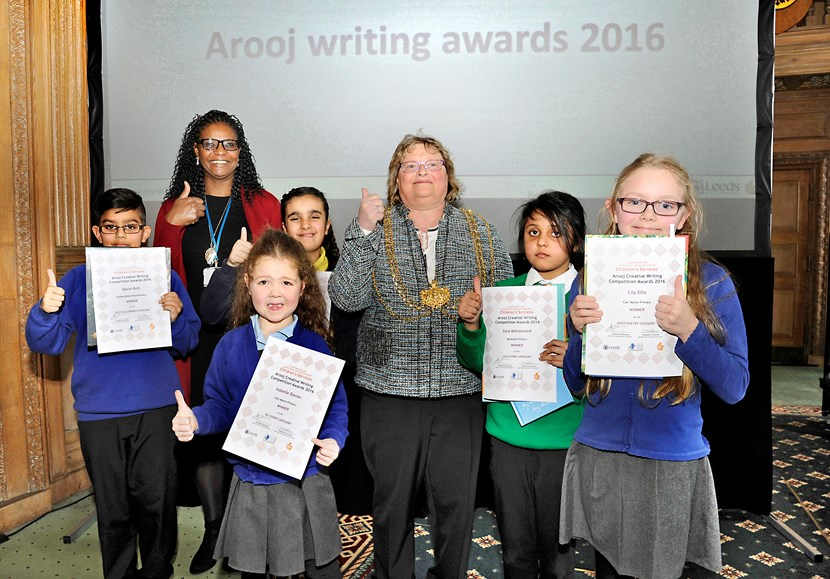 Pupils awarded for creative writing talents: winnersgroup.jpg