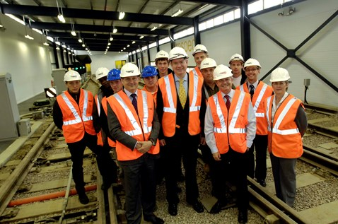 Rail Minister Tom Harris at the Paddock Wood Training Centre