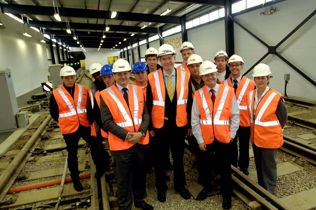 Rail Minister Tom Harris at the Paddock Wood Training Centre: Rail Minister Tom Harris officially opens new Network Rail maintenance and safety centre in Paddock Wood