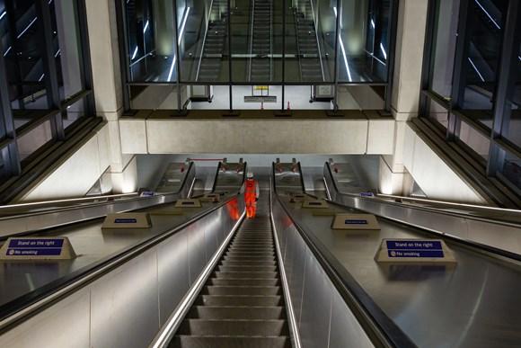 TfL Image - Escalator at Nine Elms station