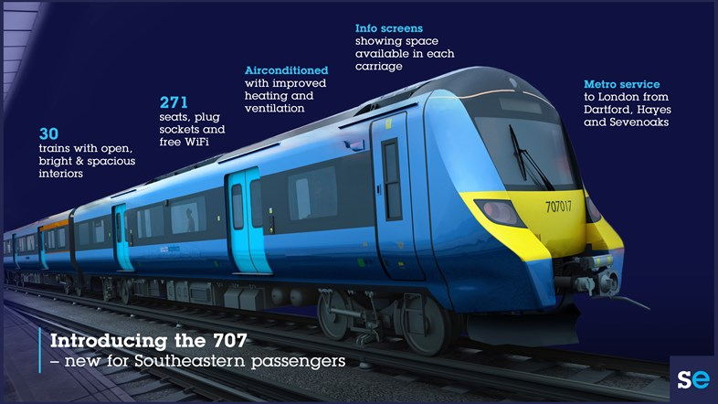 New trains for Southeastern passengers returning to rail: Class 707 infographic revised