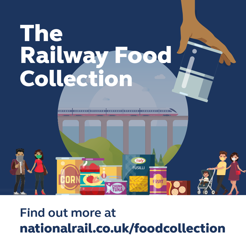 Glasgow Central provides platform for food bank collection: Railway Food Collection