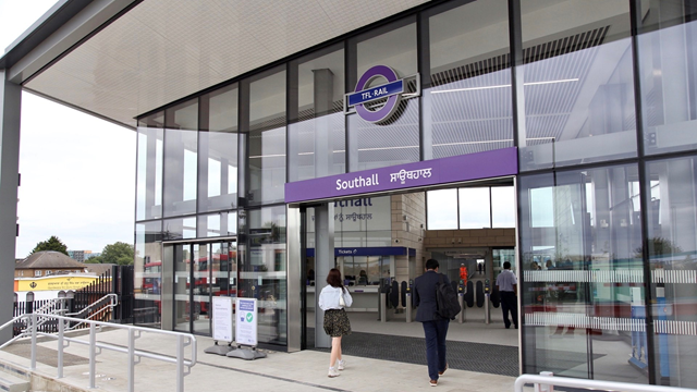 Benefits for customers in Southall with step-free access and bigger ticket hall ahead of the Elizabeth line opening: Southall new entrance and forecourt web