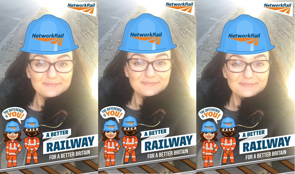 Network Rail embraces social channels as new Snapchat filter goes live: Hollie from Network Rail-2