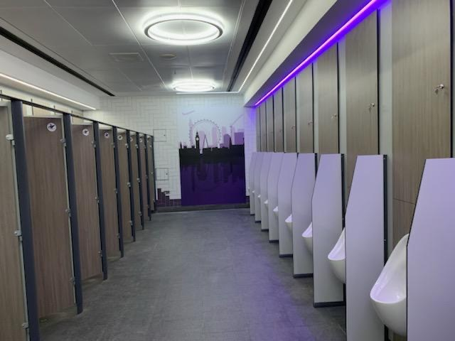 Revamped toilets at King's Cross station