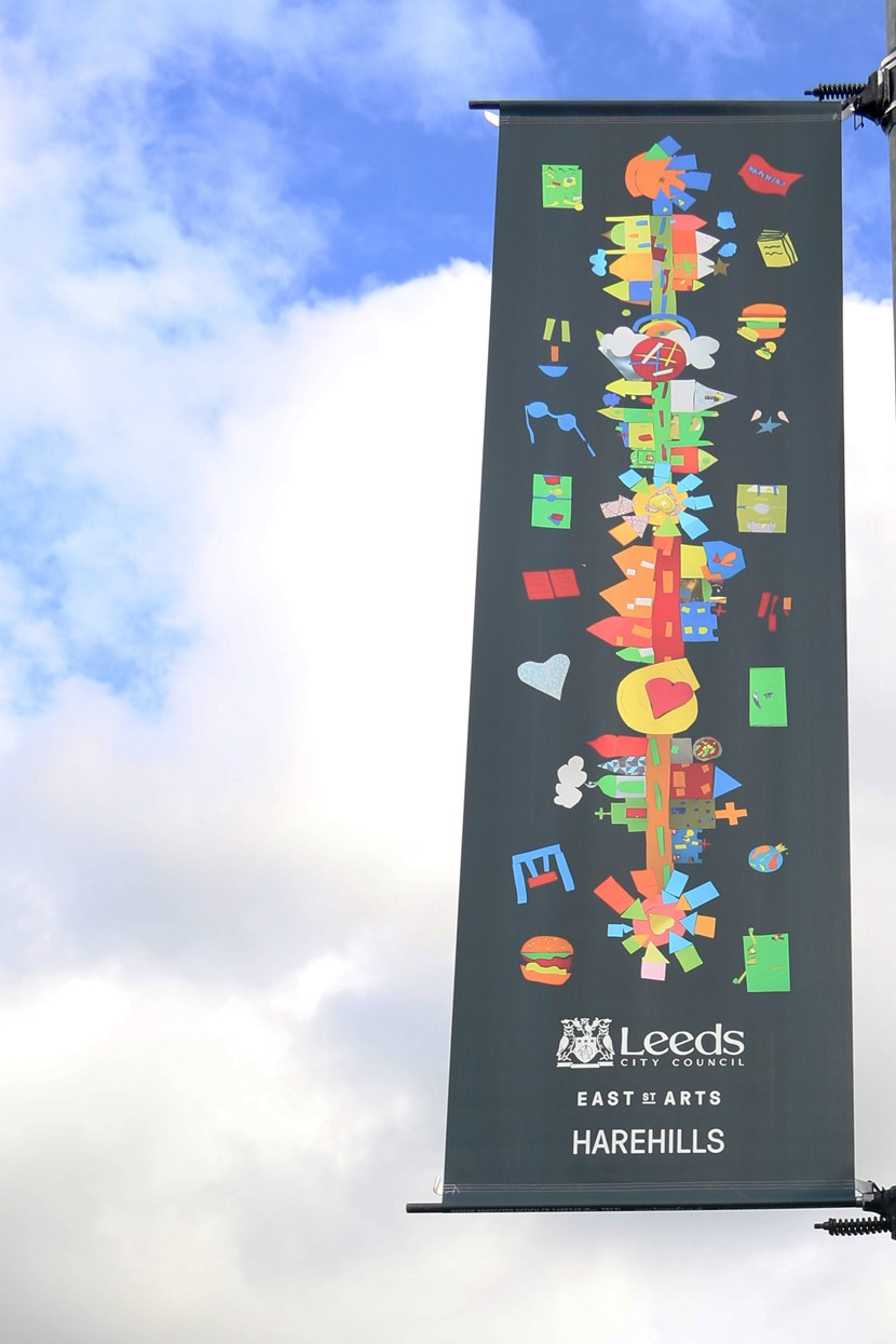 Community banners brighten up Harehills Lane: harehillsbanner.jpg