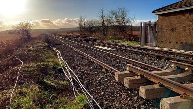 Llangennech railway looking west