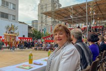 Fiona Hyslop in Japan