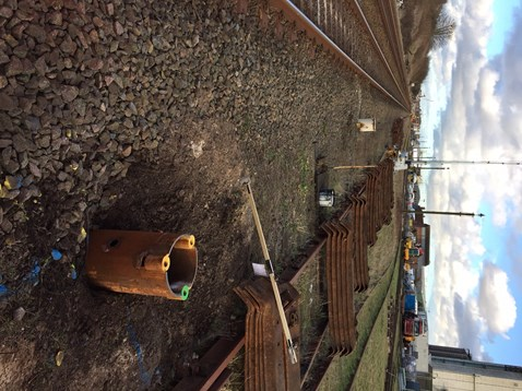 NYL signalling piling work