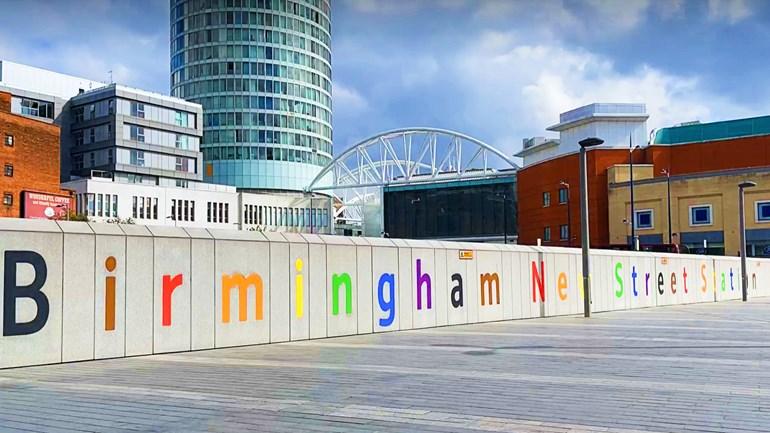 Birmingham New Street prepares for Pride and passengers aplenty