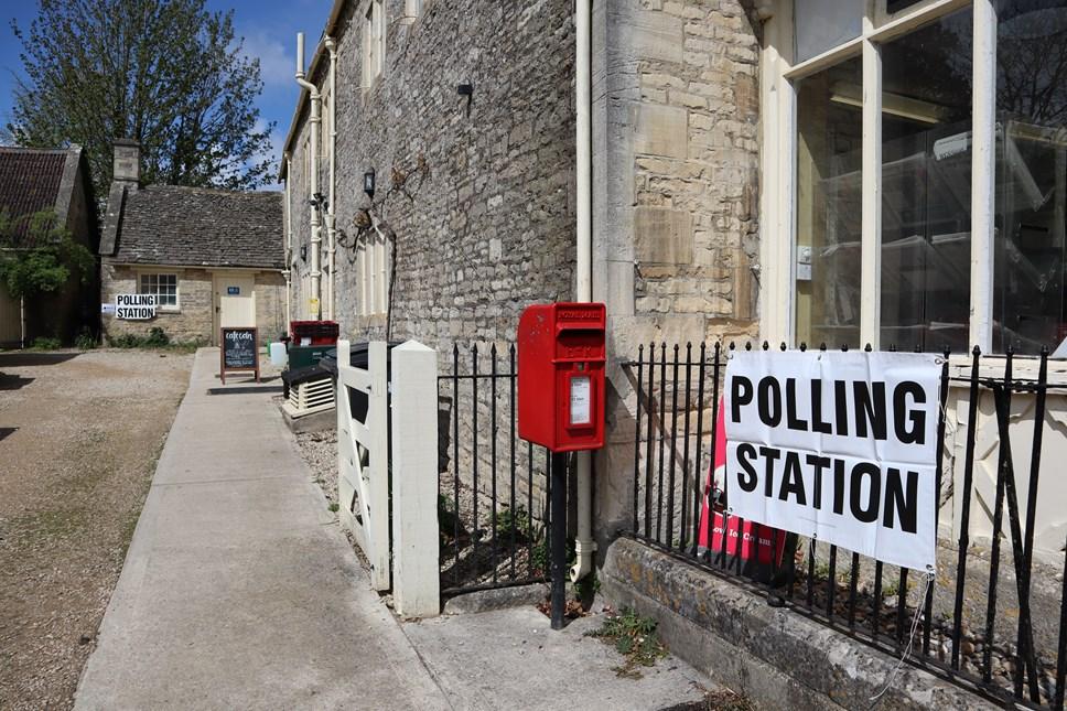 Polling station - Coln St Aldwyns