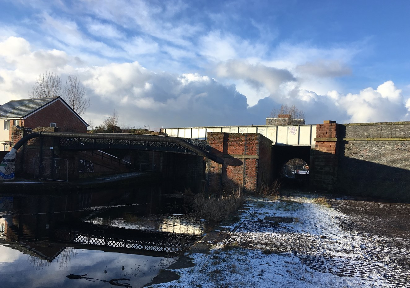 Coordinated Merseyside railway upgrades planned during Southport line closure: Leeds Liverpool Canal railway bridge