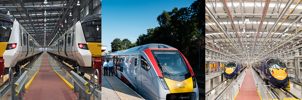 GTR / Greater Anglia / Southeastern train collage