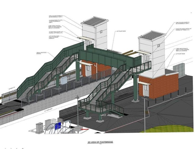 Artists impression of new look Billingham Station