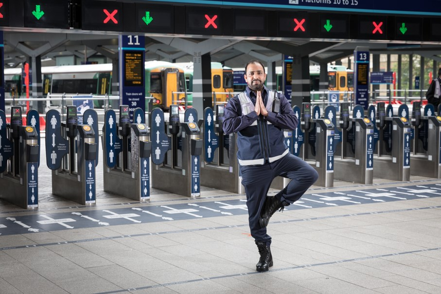 Bryony Gordon, Rebecca Adlington, Jason Fox and Dr Rupy Aujla among the star line-up for Rail Wellbeing Live 2021: Station staff at Barrier in Tree Pose