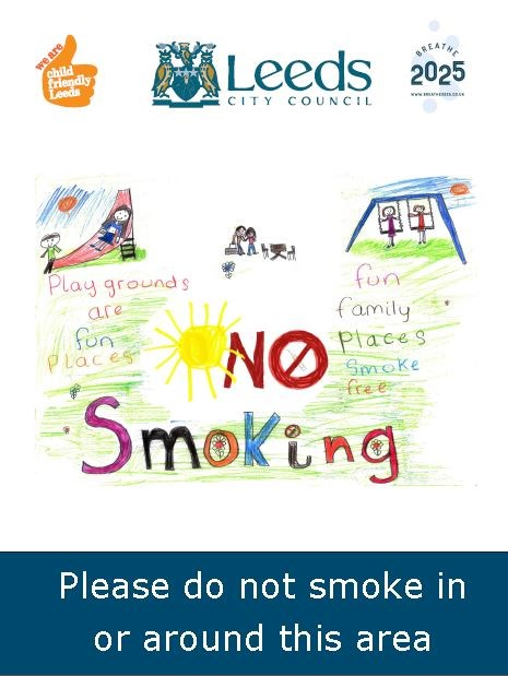 Looking forward to smokefree play areas for Leeds: smokefreesigntweetquality.jpg