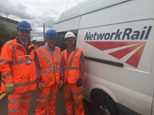 Rob Hornsey from London Midland; Michael Fabricant MP; and Martin Ball from Network Rail