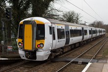 Battery-powered train (IPEMU) on level crossing: The new train contributes to Network Rail's commitment to reduce its environmental impact, improve sustainability and reduce the cost of running the railway by 20 per cent over the next five years. It could ultimately lead to a fleet of battery-powered trains running on Britain's rail network which are quieter and more efficient than diesel-powered trains, making them better for passengers and the environment. Network Rail and its industry partners – including Bombardier, Abellio Greater Anglia, FutureRailway and the Rail Executive arm of the Department for Transport (which is co-funding the project) – recognise the potential for battery-powered trains to bridge gaps between electrified parts of the network and to run on branch lines where it would be too expensive to install overhead electrification.