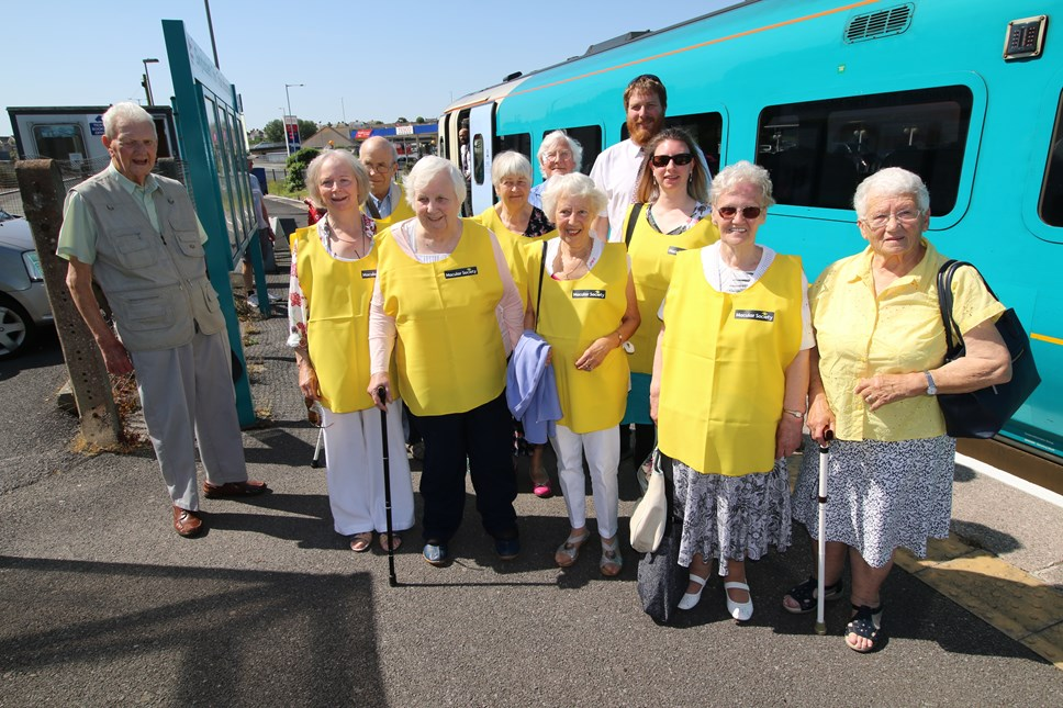 All aboard as Milford Haven sight loss group take to the tracks: Milford Haven Macular Society Group