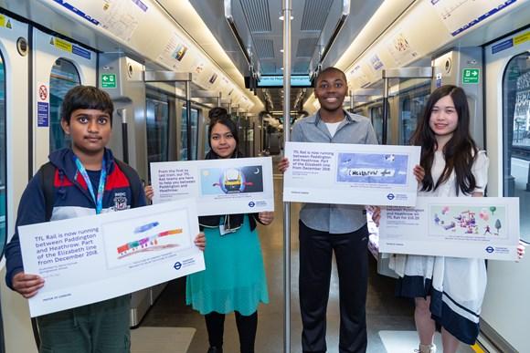 TfL Press Release - Talented young Londoners' artwork showcased in new TfL Rail trains from Paddington: TfL Rail Heathrow to Paddington Student Poster Designs – Elizabeth line