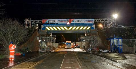 Christmas night, bridge is on site