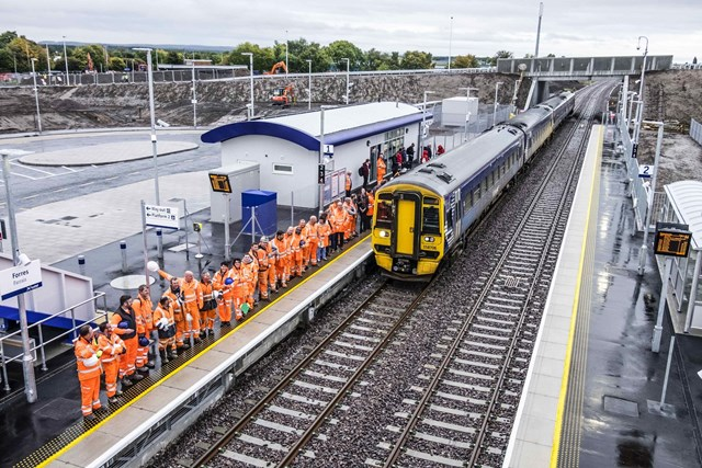 First Train at Forres - 17 October