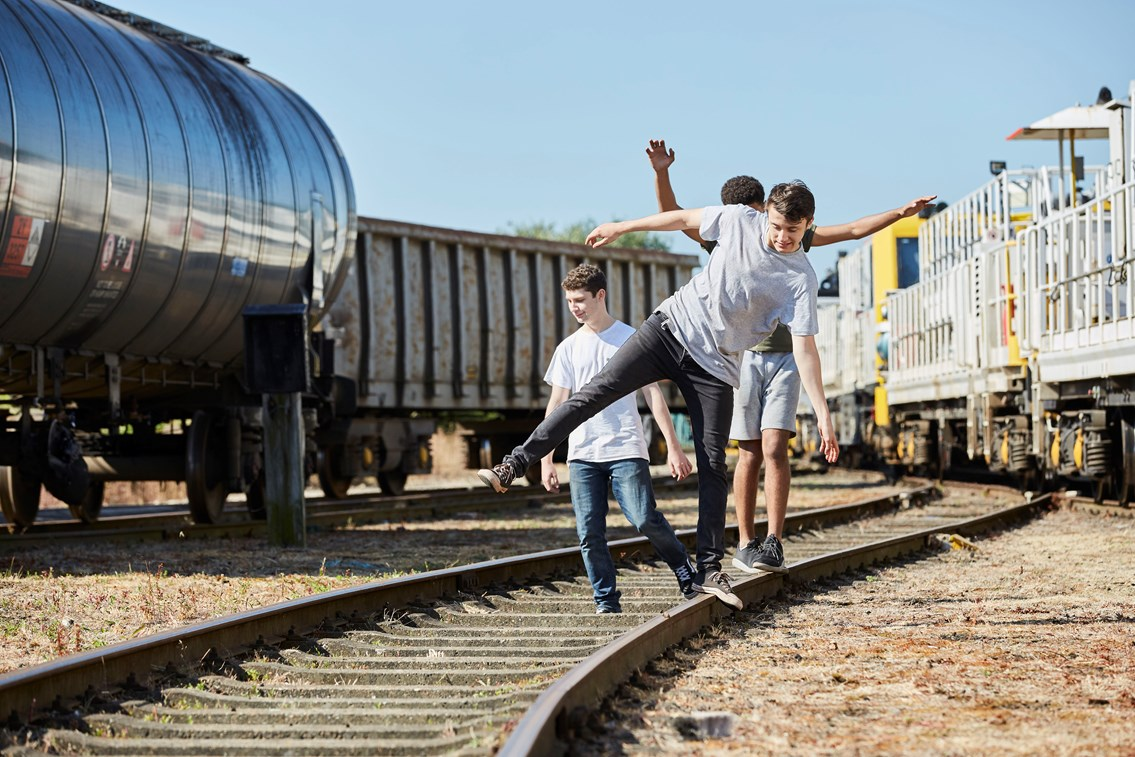 Recent figures reveal near misses on the railway across Wales and Borders have quadrupled since last year: YouVsTrain Boys on the Tracks