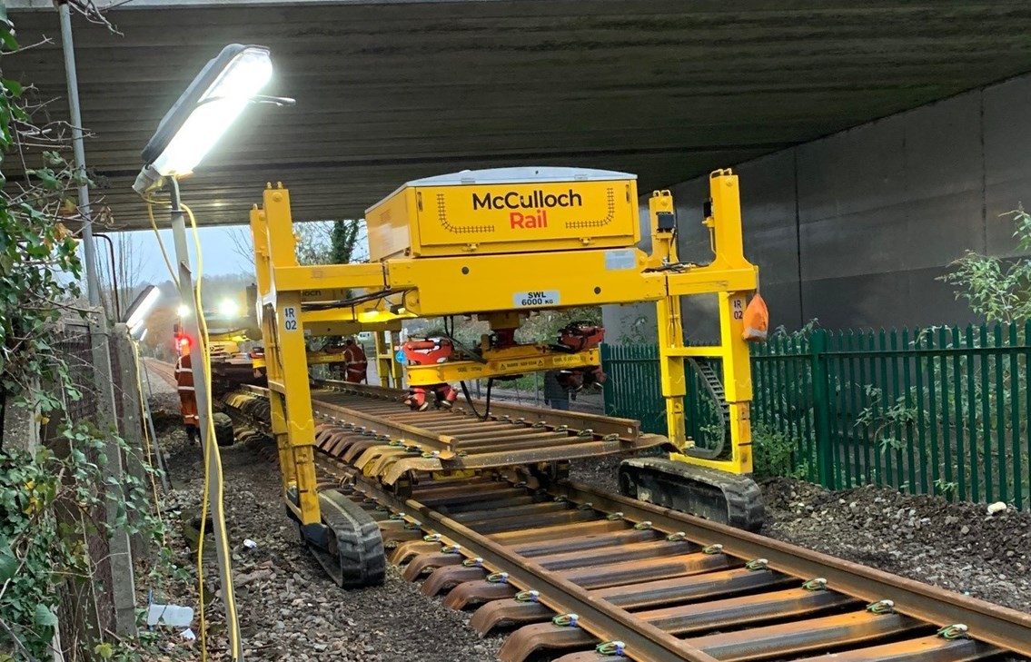 More reliable journeys for rail passengers following £4m upgrade: Marlow rail renewal web