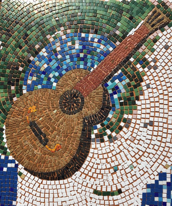 Sounds Good: One of the music-themed mosaics created for a similar project.