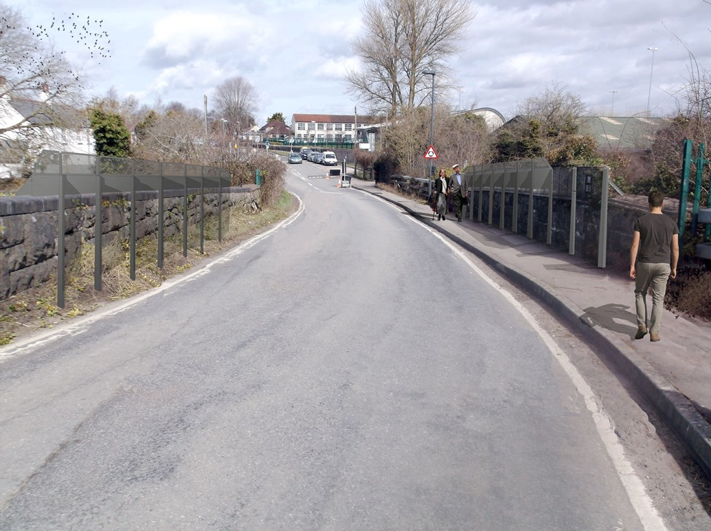 Chipping Sodbury residents invited to learn more about bridge enhancements as part of railway upgrade: Artists impression of Dodington Road bridge