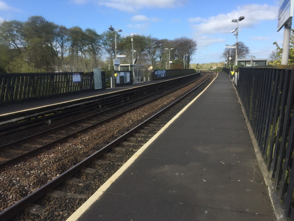 Shotts line closure gives platform for key electrification work: Livingston South station platforms 1-2