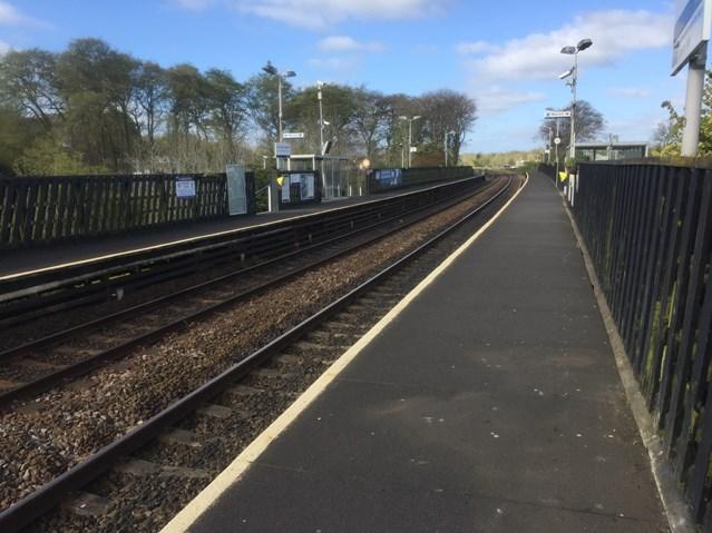 Shotts line closure gives platform for key electrification work: Livingston South station platforms 1-2