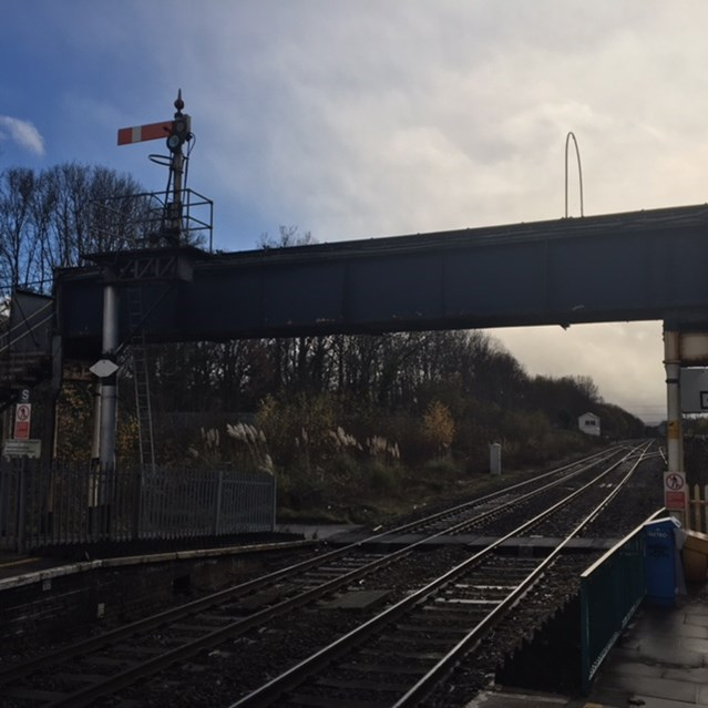 Abergavenny Station footbridge refurbishment continues: Abergavenny Footbridge November 2018