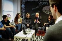 John Swinney met members of Young Scot