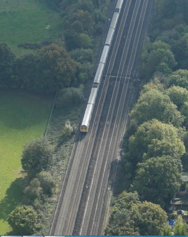 DEAN FARM: Dean Farm crossing pictured in 2016, from the Network Rail helicopter