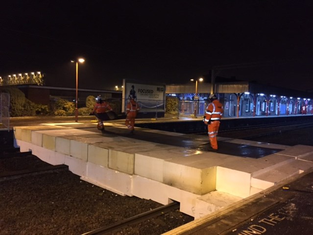 £975,000 improvement to Stockport station: stockport temporary road between tracks