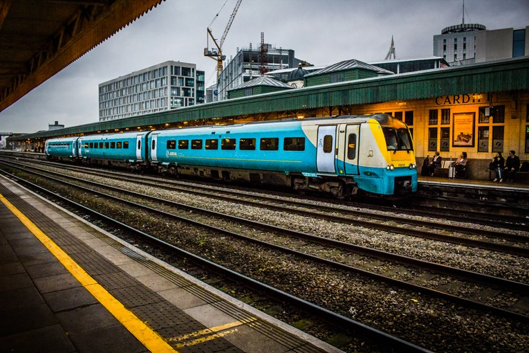 Arriva Trains Wales ends 2017 as Britain's best right time rail service: CardiffCentralRailStation2017.11.22-21