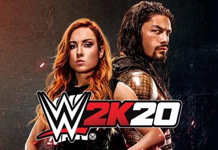 """Step Inside"" WWE® 2K20 and Experience Franchise Firsts with Cover Superstars Becky Lynch® and Roman Reigns™: WWE2K20 Art"