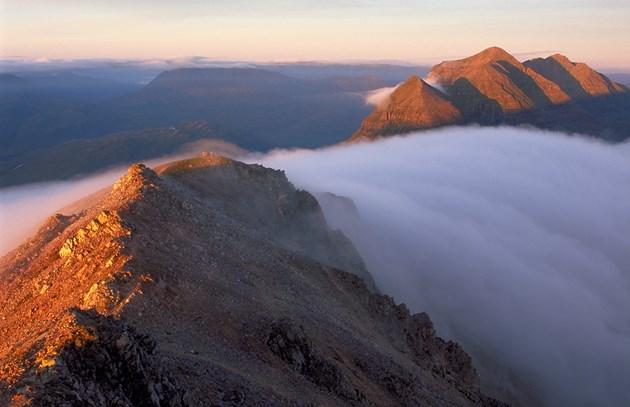 The Beinn Eighe Ridge and temperature inversion. Beinn Eighe NNR © Lorne Gill SNH