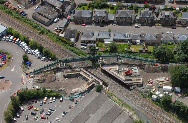Kerse Road bridge reaches new heights: 210618 - FRC Works medium