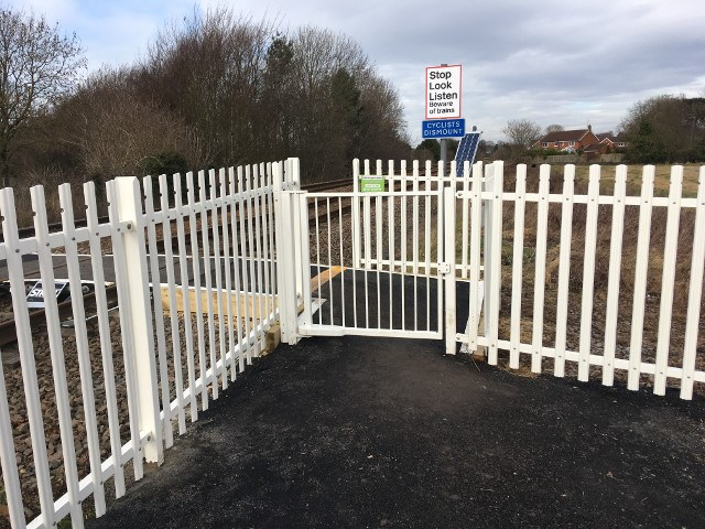 Dog saves owner from being hit by train at East Yorkshire level crossing: Snuff Mill Lane level crossing in Cottingham