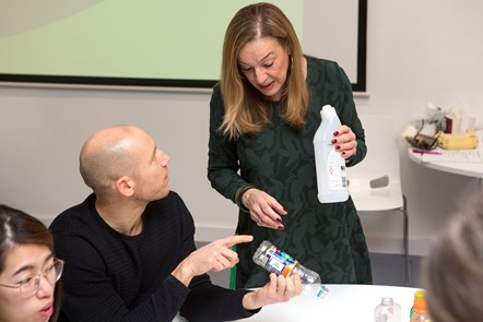 The recycling champions at Tuesday's launch event