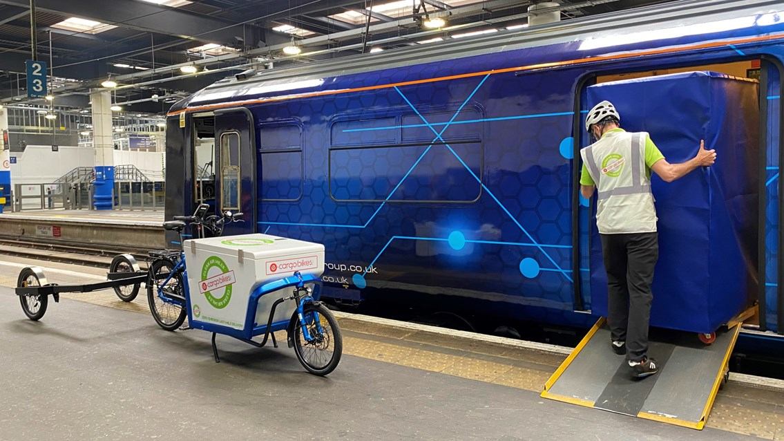 Passenger trains converted to deliver parcels to city centres: Orion logistics train on test run to Euston station
