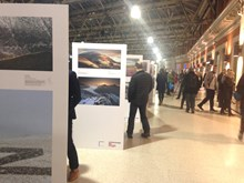 Landscape Photographer of the Year exhibition at London Waterloo station