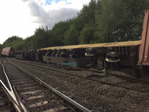 Coleshill derailed freight train 1