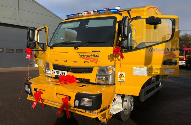 New road-to-rail vehicle to help firefighters and ambulance crews reach Severn Tunnel emergencies: emergency vehicle photo-2