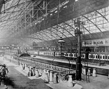 The interior of the original Birmingham New Street station