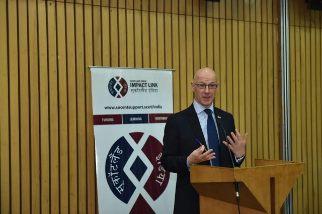 2- Deputy First Minister John Swinney announces Round 2 of the Scotland India Impact Link in Delhi