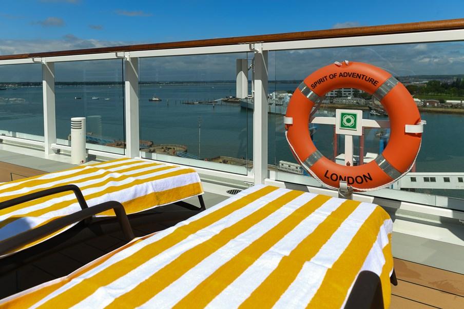 Spirit of Adventure Facilities Fact Sheet: Saga Cruises' Spirit of Adventure - sun loungers