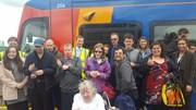 Burton Street Foundation 3: Members of the Burton Street Foundation enjoy a 'Try a Tram' Day at Meadowhall Interchange